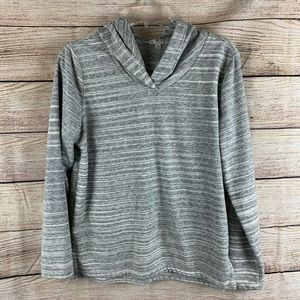 Gap Gray and White Marled Hoodie Size Small